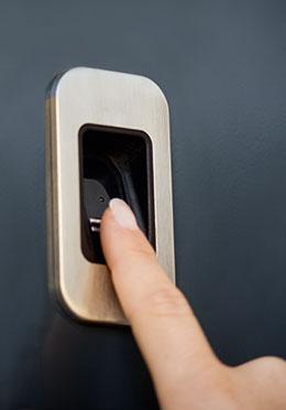 Finger Scanner Sicherheitstechnik Haustür