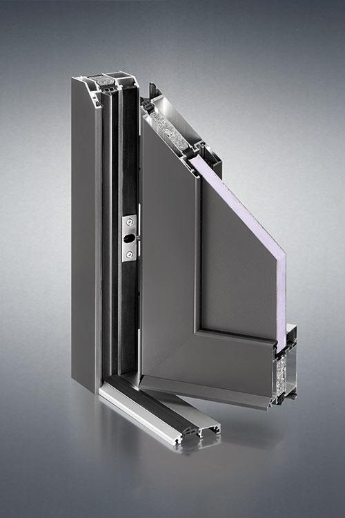 Einsatzfüllung Haustüre in anhrazit aus Aluminium